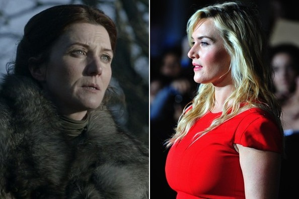 Catelyn Stark  Στη σειρά: Michelle Fairley   Hollywood recast: Kate Winslet