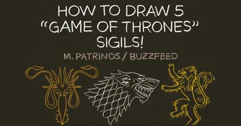 Δείτε πως να σχεδιάζετε εύκολα τα οικόσημα του Game of Thrones!